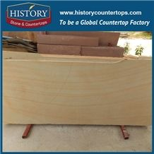 History Stone China High Reputation Factory Wooden Yellow Sandstone Tiles & Slabs for Wall, Floor, Swimming Pool, Long Desk Top