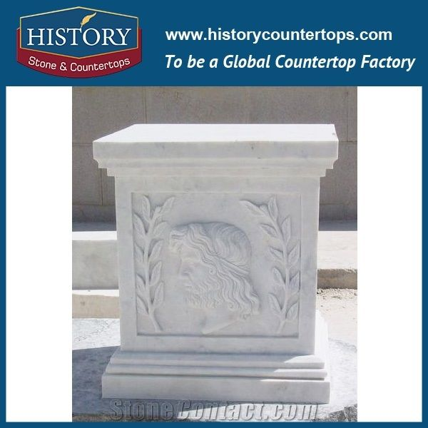 History Stone China Pillars Manufacturer Pure White Marble External Decoration Natural Ancient Stone Pillars for Home Decor Column Architecture Pillar