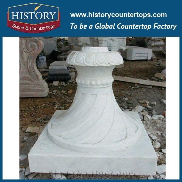Home \u003e\u003e column \u003e\u003e History Stone China Pillars Manufacturer Pure White Marble External Decoration Natural Ancient Stone Pillars for Home Decor Column ...