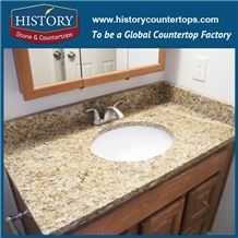 History Stone Hgj029 Caladonia Round Polishing Laminate Trim Molding Commercial Design Bathroom Countertops & Vanity Top for Building Construction
