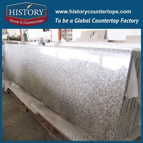 History Stone Peach Red Granite Factory Supply Flat Edging