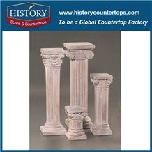 History Stones China Manufacture Different Pink Marble Stones Dimensions Natural Roman Classic Design Popular Indoor Outdoor Sculptured Pillars