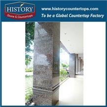 History Stones Natural Stone Tan Brown Ganite Columns Polishing Surface Square Hotel Gate Decoration Exhibition Decorative Pillars