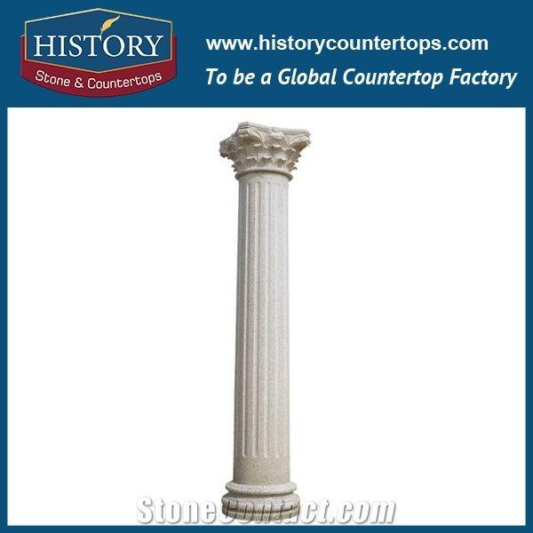History Stones Oriental Grey Granite G603 Solid Column Decorative