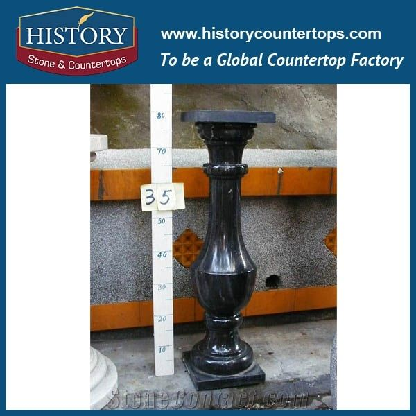 History Stones Outdoor Stair Handrail Price Black Granite Railing Molds For  Balusters Cheap Decorative External Handrails Pillars