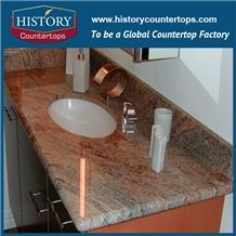 Historystone Best Priced Granite Vanity Tops with Single Sink Custom Vanity Tops Polished is Solid Surface