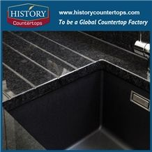 Historystone Black Granite Countertop Price / 3cm Thickness / Granite Countertops / Affordable Bath Tops/Engineered Stone Bathroom and Solid Surface