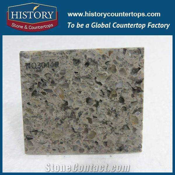 Historystone Cut To Size Kingston Man Made Colorful Granite Tile And Slab Quartz Stone With Polishing Surface For Kitchen Worktops Or Bar Tops
