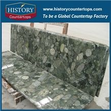 Historystone Pebble Green Granite Bathroom Countertops/ Custom Vanity Tops/Solid Surface in 2/3cm