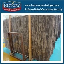 Historystone Polished Wholesale Polished Nature Blue Golden Coast Marble Stone Slabs Also Used in the Home Decoration Engineering Project.