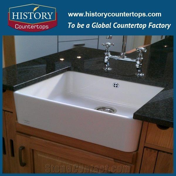 Historystone Popular Black Granite Vanity 2cm / Bathroom Vanity Tops / Vanity Countertops / Affordable Bathroom Countertops is Solid Surface