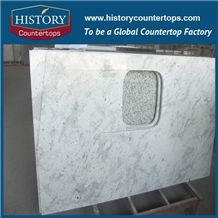 Historystone White Granite Stone Custom Vanity Tops/Bath Tops for Hotel/ 2/3cm Countertops Solid Surface