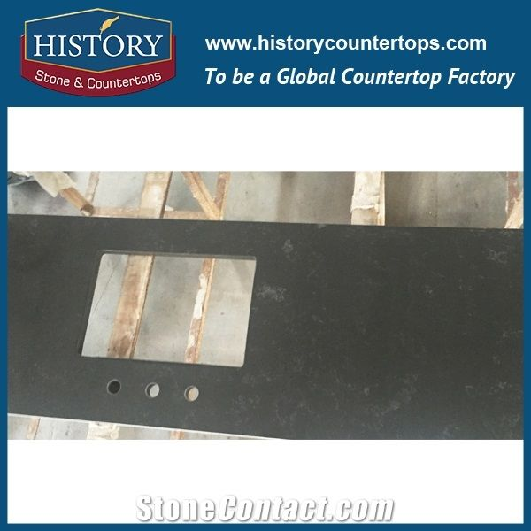 Historystone With Polished Solid Surface In Gris Concrete Marble Tile And Slab Quartz Stone For Kitchen Island Tops Or Countertops Bar