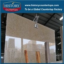 Historystone Yellow Granite Bathroom Countertops/Custom Vanity Tops/Engideered Stone Bathroom Vanity Tops/ Granite Bath Tops/Square Bath Tops