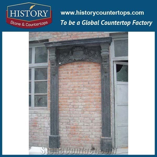 large black marble stone entrance main gates door frames with craved