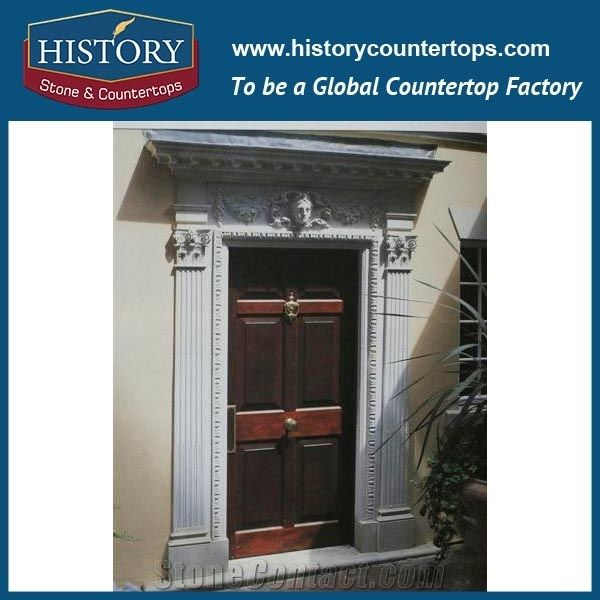 Large Pure White Marble Stone Entrance Main Gates Carving Door