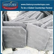 Natural Split Surface Finishing Grey Color Slate Stone for U Type Roof Covering and Coating, Flat Roof Tiles