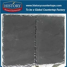 Pearl Black Rectangle Pattern Slate Roofing Tile, China Slate Roof Covering with All Chiseled Edges