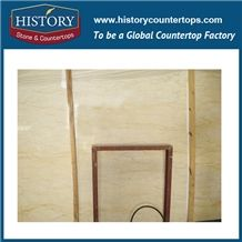 Turkey Golden Dragon Beige Marble Stone Tiles&Slabs, Brush Flamed Edge for Wall Cladding, Pool Cover Copers, Floor