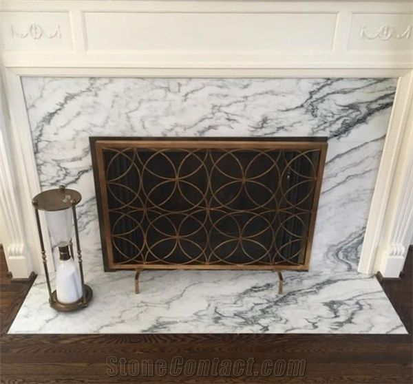 Honed Montclair Danby Marble Fireplace Surround From