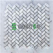 Bianco Carrara White Marble Mosaictile 12
