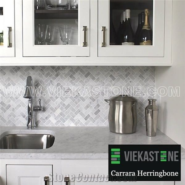 Bianco Carrara White Marble Mosaictile