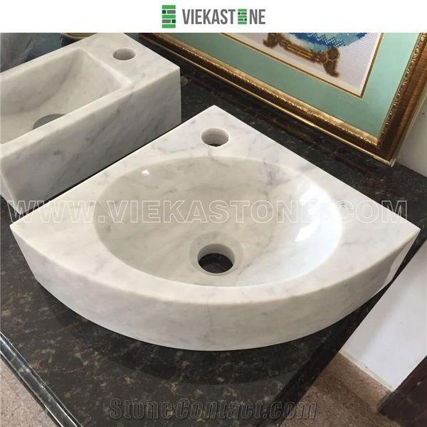 China Guangxi White Marble Washbasin Wash Bowls Sink Basins for ...
