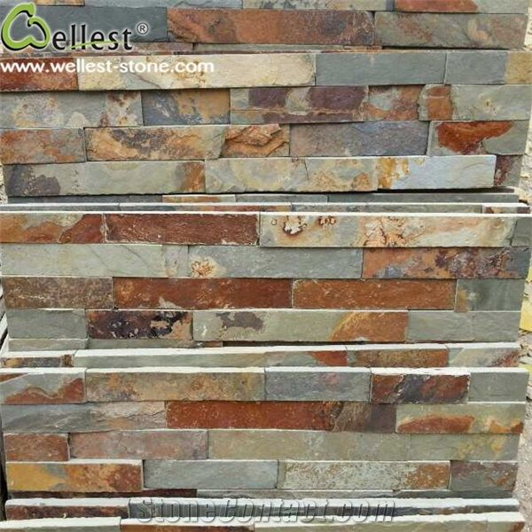Natural Rusty Slate Ledge Stone Exterior Wall Decorative Stone ...