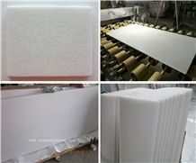 China Absolute White Pure White Milk White Crystal White Marble Slab and Tiles Wholesale