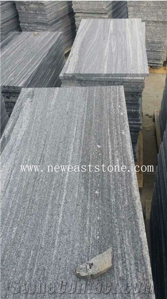China Cheap Antique Grey Landscape Negro Santiago Black Granite