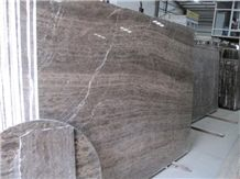 Coffee Brown Marble Slabs & Tiles, Fantasy Bamboo Brown Marble, Wood Grain, China Brown Marble