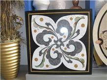 Flower Waterjet Marble Tiles Design Floor Pattern Tile Wholesale