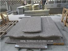 Own Facotry Offer G664 Bainbrook Brown Copper Brown Granite Double Gravestone Monuments