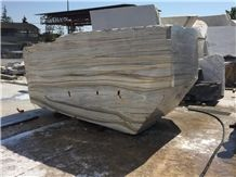 Zebrino Bluette Marble Block, Italy Blue Marble