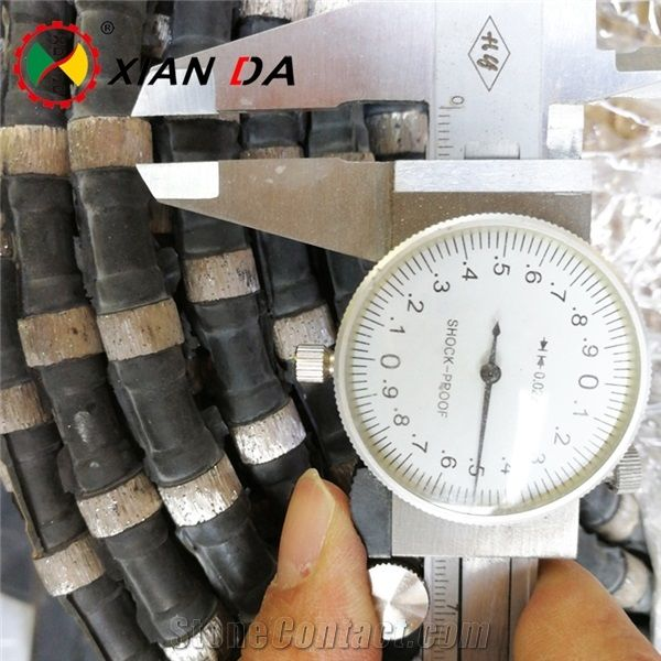 Wire Saws For Stone | 11 5mm Rubber Sintered Beads Diamond Wire Saw For Stone Marble