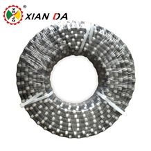 China Wholesale Diamond Wire Saw Rope for Quarry Cutting,Rubber and Spring Coating Diamond Wire