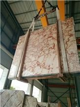 Ivory Red Marble Slabs