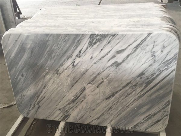Statuario White Marble Solid Surface Table Tops,Bianco ...
