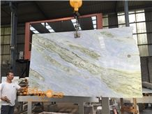 Changbai White Jade Chinaese Blue Moon River Marble Slabs and Tiles Own Factory and Quarry Owner with Ce Certificate Wall Cladding,A Grade Natural