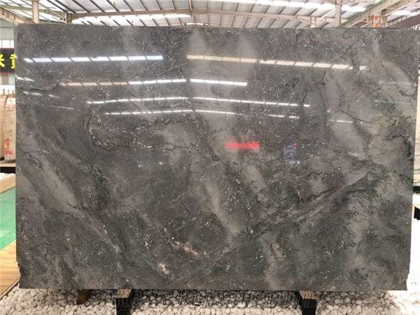 Natural Stone Quartz High Bright Degree Marble Slabs Dark
