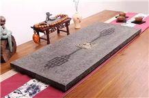 China Black Basalt Tea Table