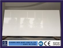 Artificial Quartz Stone Bs1000 Super White Solid Surfaces Polished Slabs & Tiles Engineered Stone for Kitchen Bathroom Counter Top