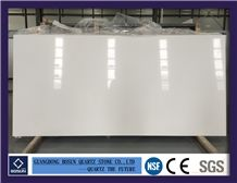 Artificial Quartz Stone Bs1001 Pure White Solid Surfaces Polished Slabs & Tiles Engineered Stone for Kitchen Bathroom Counter Top