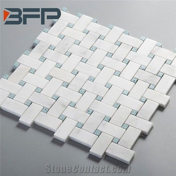 Est White Stone Mosaic Tiles For