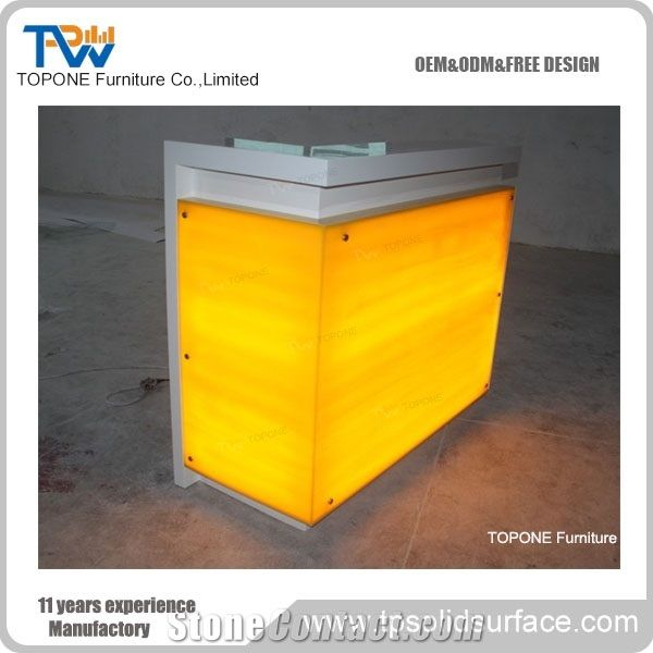 China Factory Supplier Small Led Lighted Home Bar Counter Tops