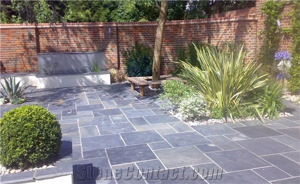 Penwyd Blue Black Slate Patio Pavers From United Kingdom