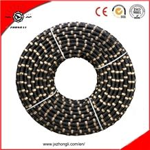 11.0mm 10.5mm Rubber Sintered Beads Diamond Wire Saw for Stone Marble Granite Cutting