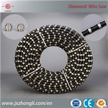 Diamond Wire for Quarry ,Diamond Wire Saw Beads, Hot Sale Elastic Stone Diamond Wire, Block Cutting Wire , Chinese Quarrying Stone Tool