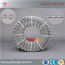 Marble Diamond Wire, Stone Cutting Diamond Wire, Diamond Wire for Wire Saw Machine 7.3mm High Strength Plastic Multi-Wire Saw for Granite Slab Cutting
