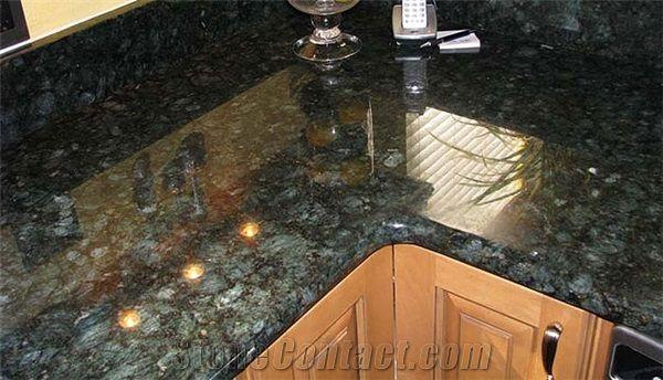Best Quality Pea Green Granite Kitchen Countertops Worktops Custom Quartz Stone Bar Top Gofar